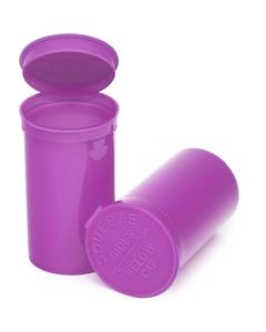 19 Dram Purple Opaque Plastic Pop Top Container, 225/cs