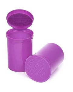 30 Dram Purple Opaque Plastic Pop Top Container, 150/cs