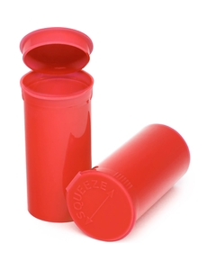 13 Dram Red Opaque Plastic Pop Top Container, 315/cs
