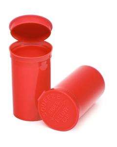 19 Dram Red Opaque Plastic Pop Top Container, 225/cs