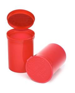 30 Dram Red Opaque Plastic Pop Top Container, 150/cs