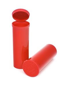 60 Dram Red Opaque Plastic Pop Top Container, 75/cs