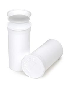 19 Dram White Opaque Plastic Pop Top Container, 225/cs