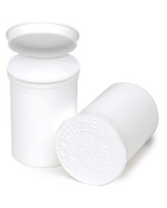 30 Dram White Opaque Plastic Pop Top Container, 150/cs