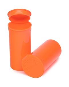 13 Dram Orange Opaque Plastic Pop Top Container, 315/cs