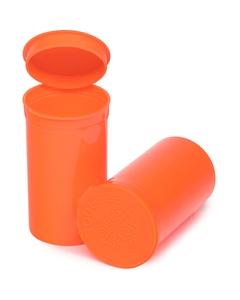 19 Dram Orange Opaque Plastic Pop Top Container, 225/cs