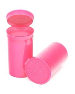 19 Dram Pink Opaque Plastic Pop Top Container, 225/cs