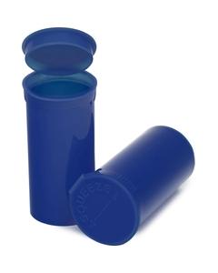 13 Dram Blue Opaque Plastic Pop Top Container, 315/cs