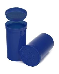 19 Dram Blue Opaque Plastic Pop Top Container, 225/cs