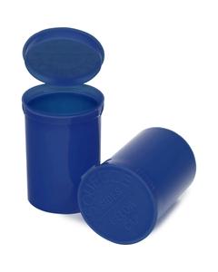30 Dram Blue Opaque Plastic Pop Top Container, 150/cs