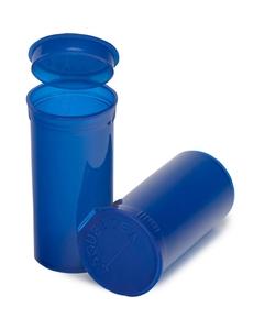 13 Dram Blue Plastic Pop Top Container, 315/cs