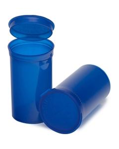 19 Dram Blue Plastic Pop Top Container, 225/cs