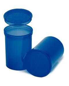 30 Dram Blue Plastic Pop Top Container, 150/cs
