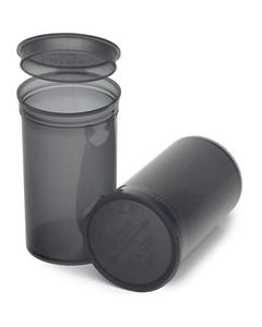 19 Dram Gray Plastic Pop Top Container, 225/cs