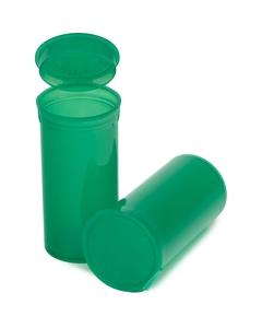 13 Dram Green Plastic Pop Top Container, 315/cs