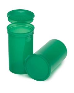 19 Dram Green Plastic Pop Top Container, 225/cs