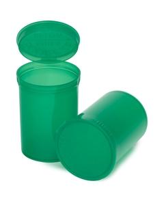 30 Dram Green Plastic Pop Top Container, 150/cs