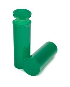 60 Dram Green Plastic Pop Top Container, 75/cs