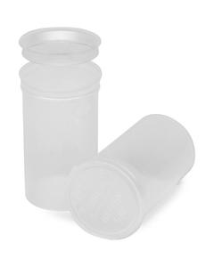 19 Dram Clear Plastic Pop Top Container, 225/cs
