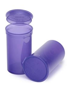 19 Dram Violet Plastic Pop Top Container, 225/cs