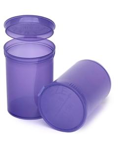 30 Dram Violet Plastic Pop Top Container, 150/cs