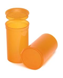 19 Dram Amber Plastic Pop Top Container, 225/cs