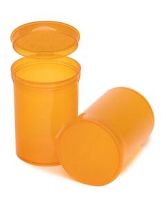 30 Dram Amber Plastic Pop Top Container, 150/cs
