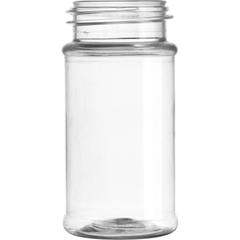 3.5 oz. Clear PET Plastic Spice Jar, 43mm 43-485