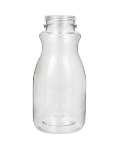8 oz. Clear PET Plastic Tamper Evident Round Bottle, 38mm 358DBJ