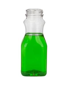 8 oz. Clear PET Plastic Tamper Evident Juice Bottle, 38mm 358DBJ