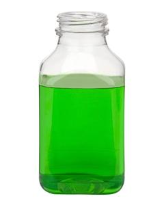 10 oz. Clear PET Plastic Tamper Evident Square Bottle, 38mm 358DBJ