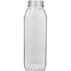 10 oz. Clear PET Plastic Tamper Evident WH Square Bottle, 38mm 358DBJ