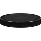 110mm 110-400 Black Ribbed (Matte Top) Plastic Cap w/HIS for PET/PVC