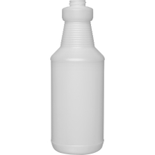 32 oz. Natural HDPE Plastic Carafe Bottle, 28mm 28-400, 52 Grams