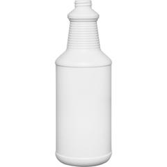 32 oz. White HDPE Plastic Carafe Bottle, 28mm 28-400, 51 Grams