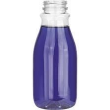 12 oz. Clear PET Plastic Tamper Evident Round Bottle, 38mm 358DBJ