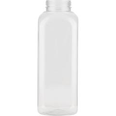 12 oz. Clear PET Plastic IPEC Tamper Evident Square Bottle, 38mm 38-IPEC
