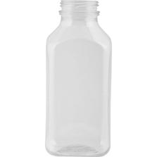 12 oz. Clear PET Plastic Tamper Evident Square Drink Bottle, 38mm 358DBJ