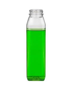 12 oz. Clear PET Plastic Tamper Evident WH Square Bottle, 38mm 358DBJ