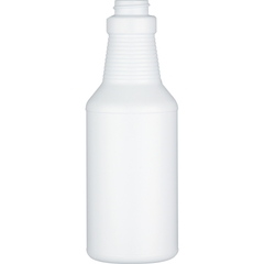 16 oz. White HDPE Plastic Carafe Bottle, 28mm 28-400