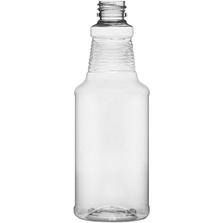 16 oz. Clear PET Plastic Carafe Bottle, 28mm 28-410