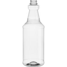 32 oz. Clear PET Plastic Carafe Bottle, 28mm 28-400