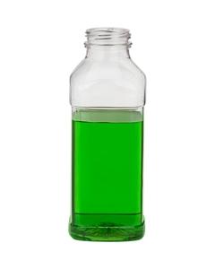 13.5 oz. Clear PET Plastic Tamper Evident CP Square Bottle, 38mm 358DBJ