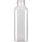 14.5 oz. Clear PET Plastic Tamper Evident CP Square Bottle, 38mm 358DBJ