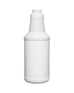 16 oz. Blue/White HDPE Plastic Carafe Bottle, 28mm 28-400, 28 Grams