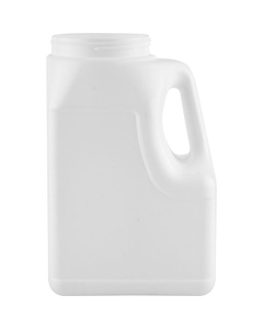 164 oz. White HDPE Plastic Oblong Jar with Handle, 110mm 110-400