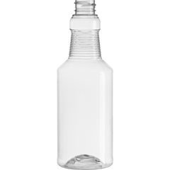 16 oz. Clear PET Plastic Carafe Bottle, 28mm 28-400, 32.5 Grams