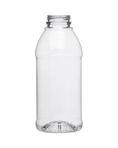 16 oz. Clear PET Plastic Tamper Evident Bullet Round Bottle, 38mm 358DBJ