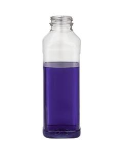 16 oz. Clear PET Plastic Tamper Evident CP Square Bottle, 38mm 358DBJ