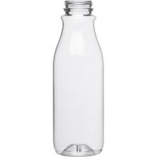 16 oz. Clear PET Plastic Tamper Evident Round Bottle, 38mm 358DBJ
